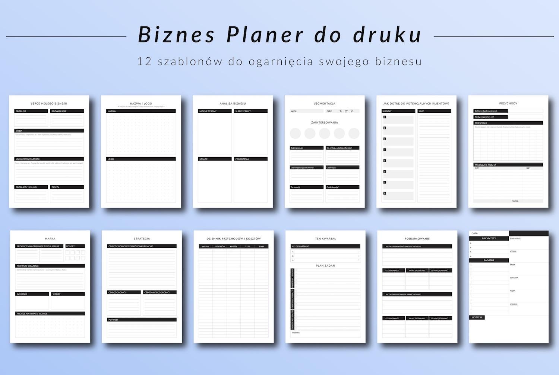 biznes planer do druku pdf