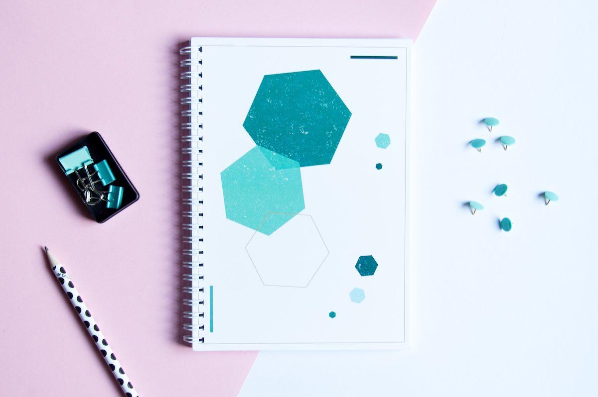 bullet journal zeszyt kropki poligonal