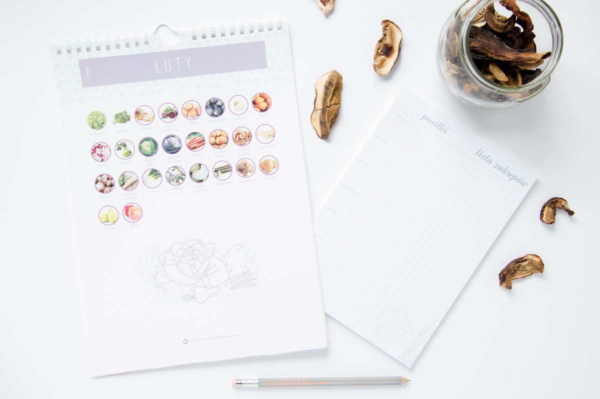 kalendarz warzywa owoce sezonowe do druku