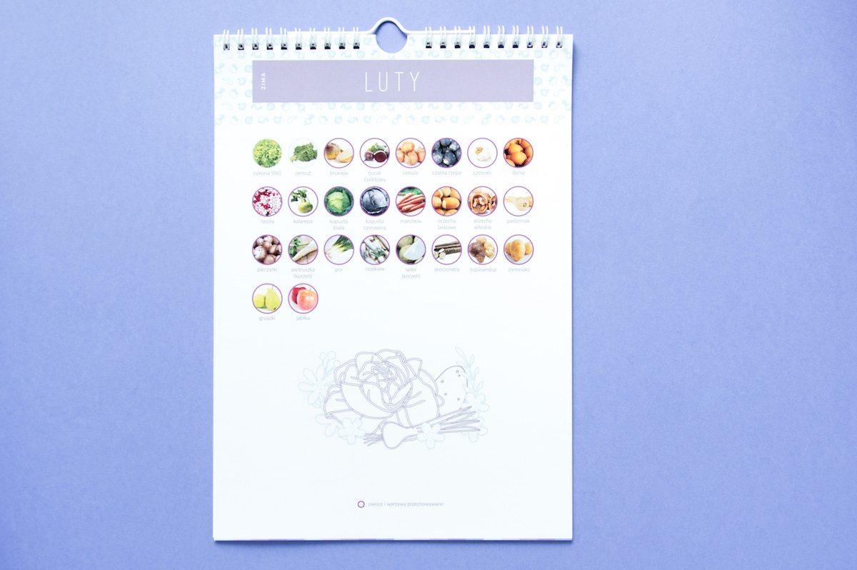 kalendarz warzywa owoce sezonowe luty