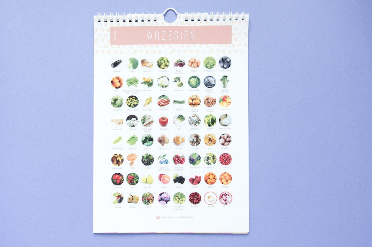 kalendarz warzywa owoce sezonowe wrzesień