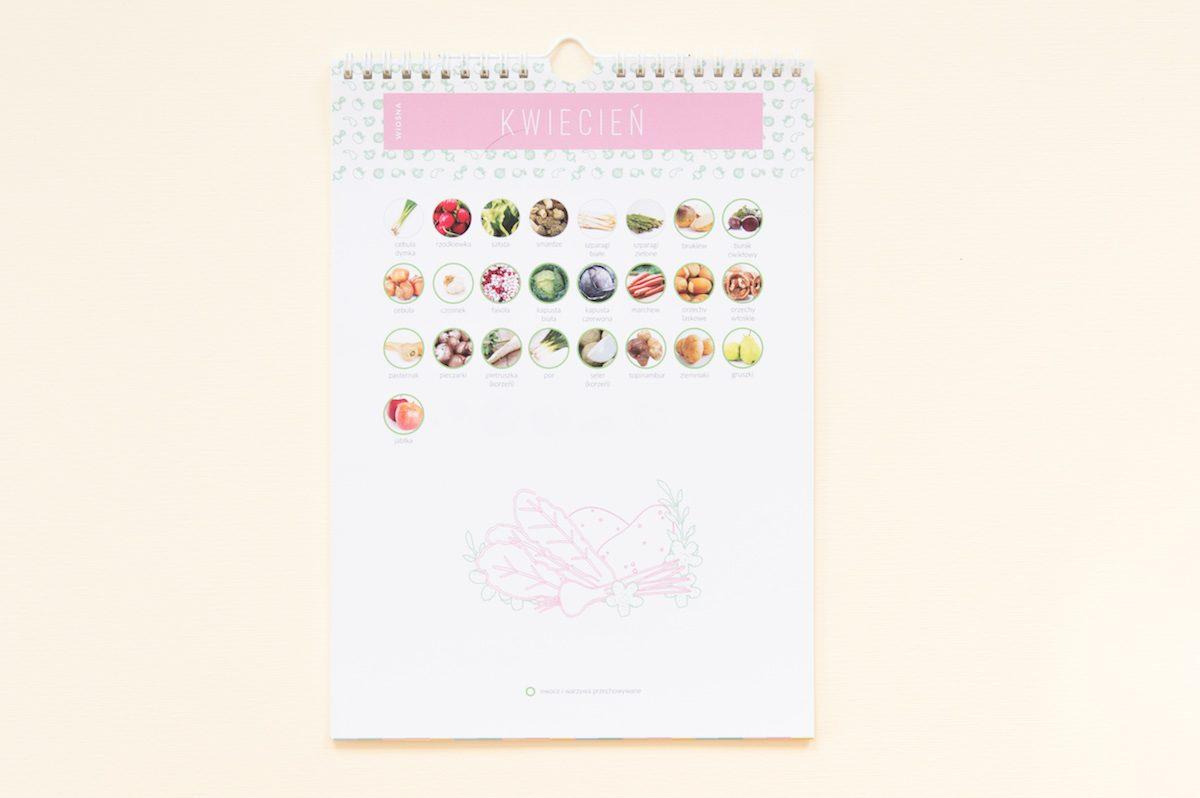 kalendarium warzyw i owoców sezonowych