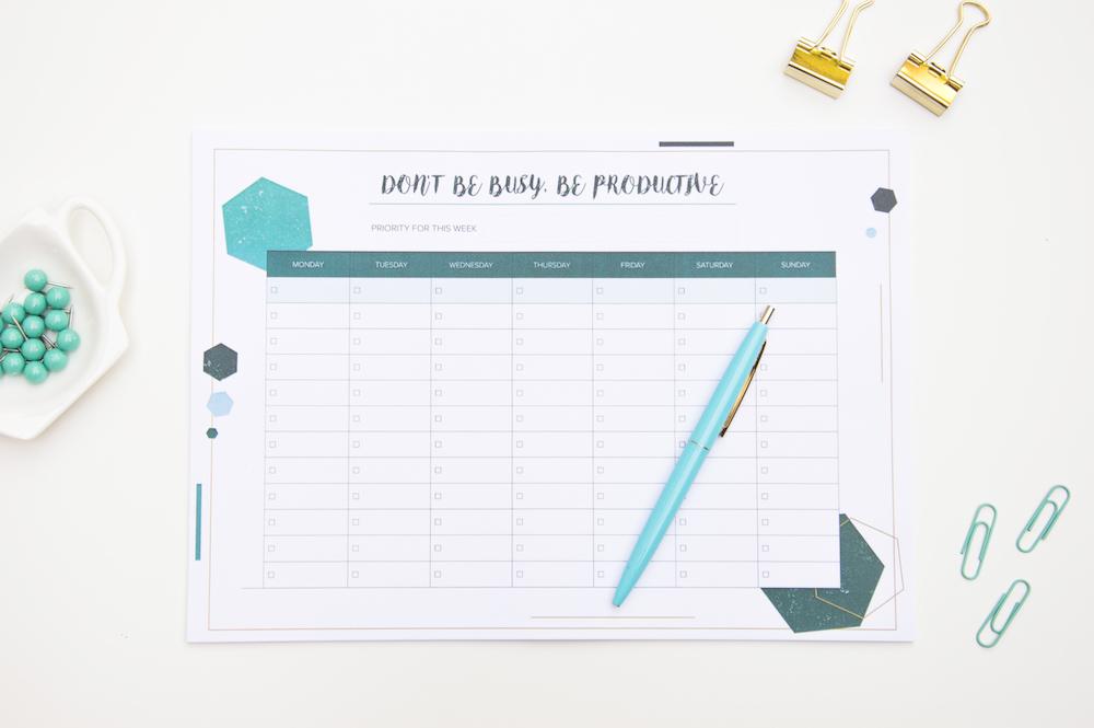 planer tygodniowy lista zadań poligonal notes a4