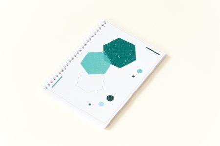 zeszyt w kropki bullet journal geometryczne wzory