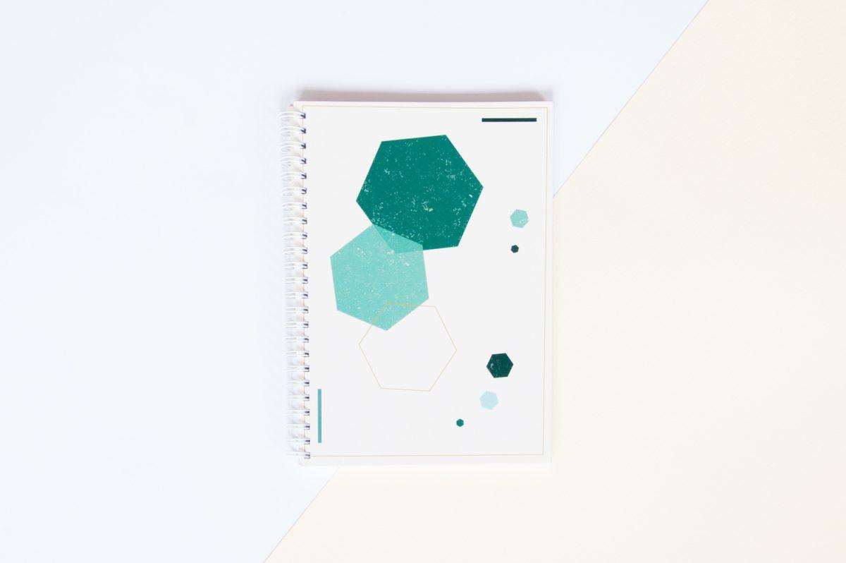 zeszyt w kropki bullet journal hexagon
