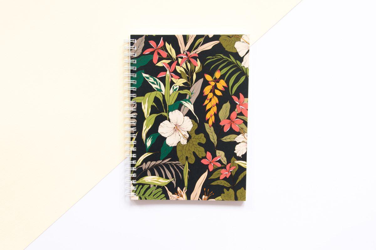 zeszyt w kropki bullet journal hibiskus