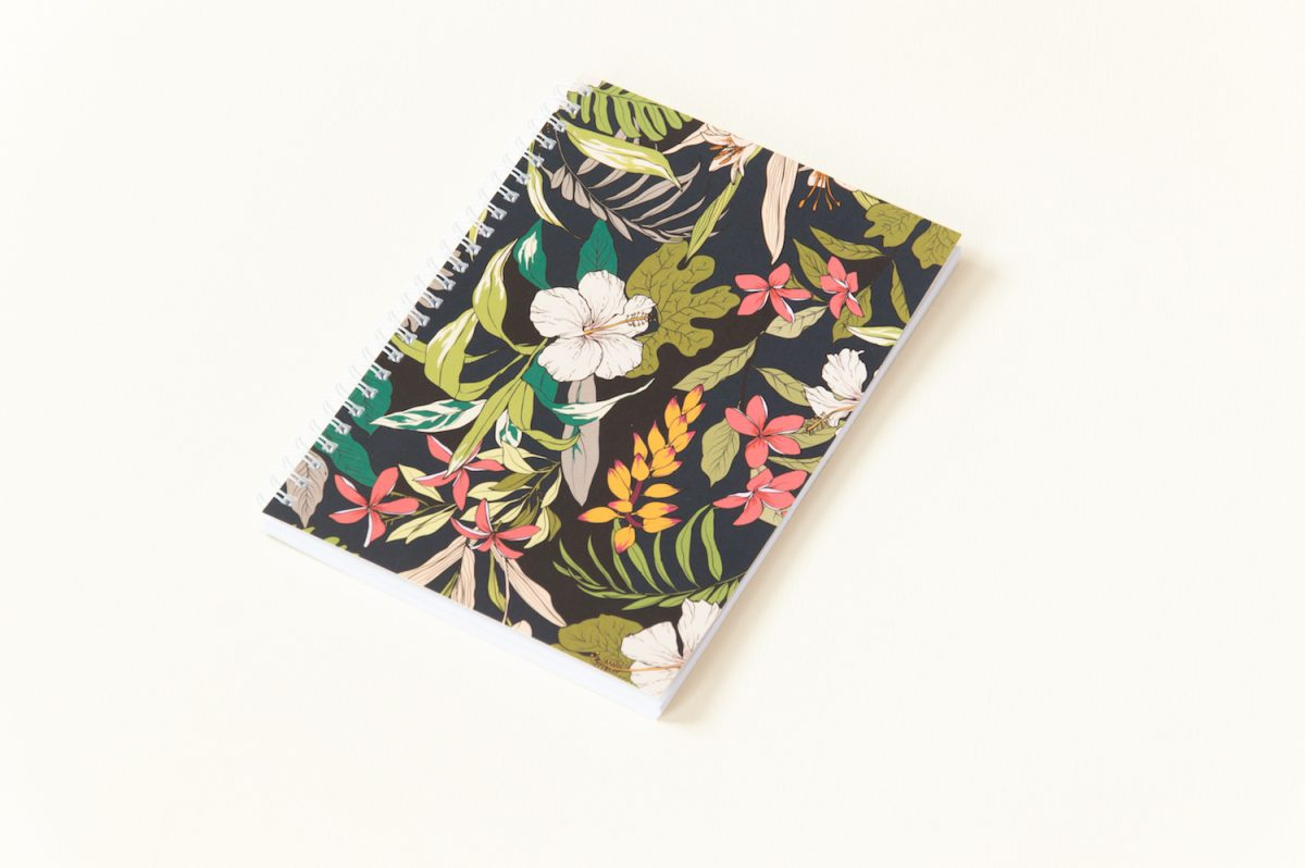 zeszyt spiralowany bullet journal hibiskus