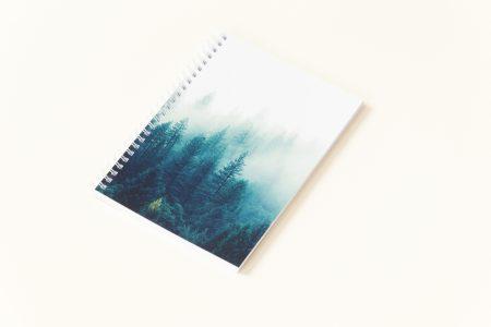zeszyt w kropki bullet journal las