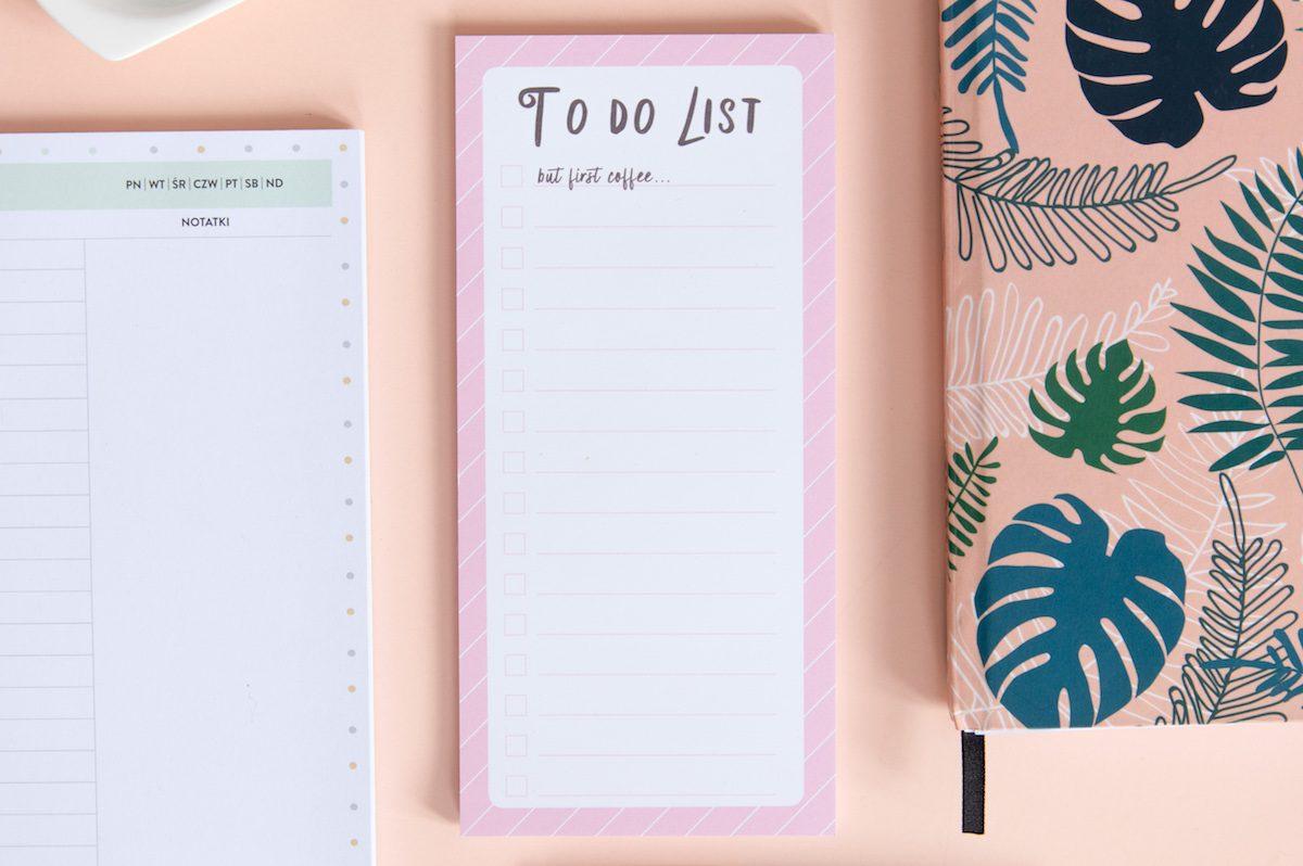 notes lista zadań cofee