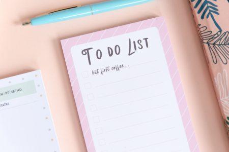 notes lista zadań najpierw kawa