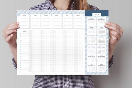 podkładka na biurko z kalendarzem 2018