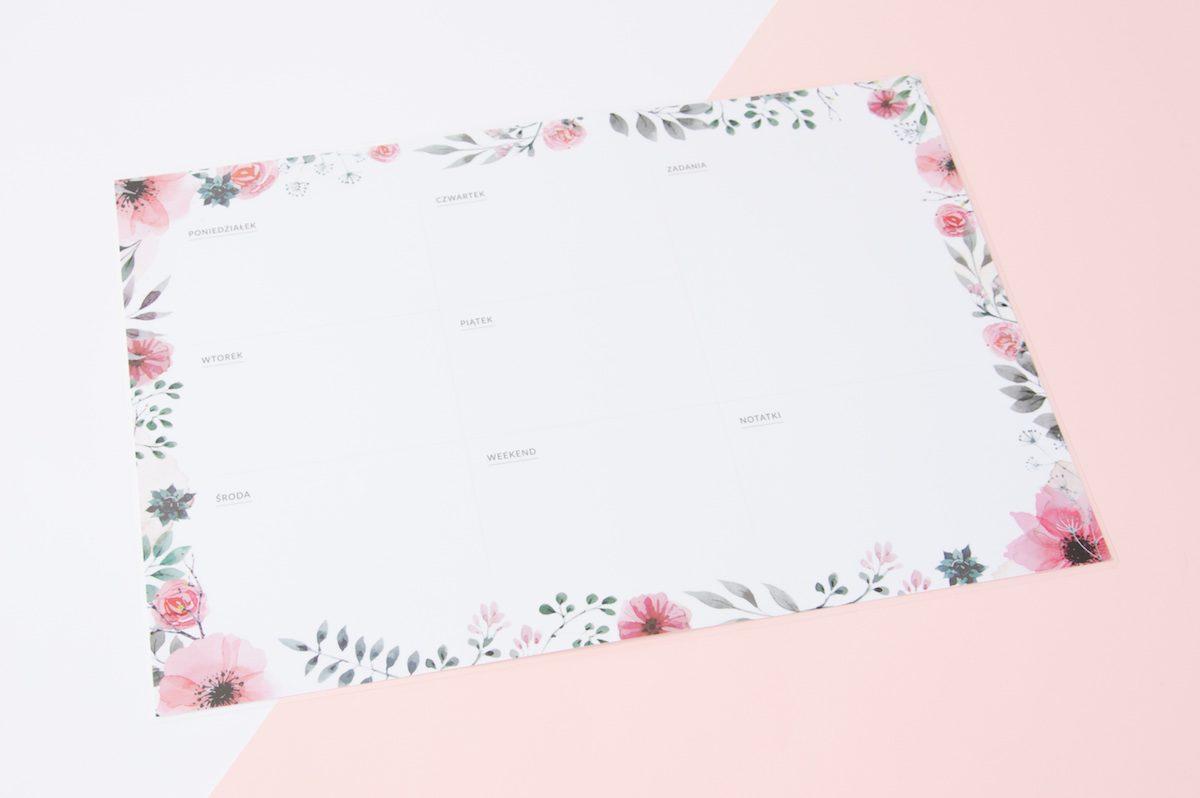 planer ścienny suchościeralny kwiaty