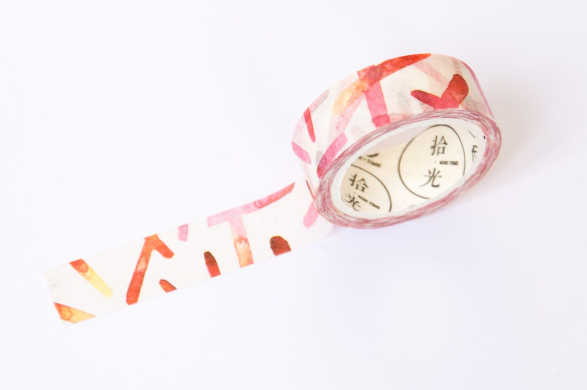 washi tape czerwona