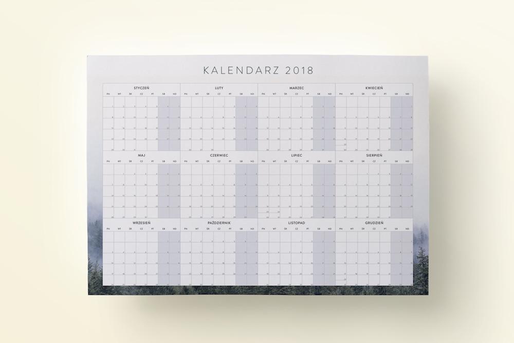 "Planer Kalendarz do druku ""Las"""