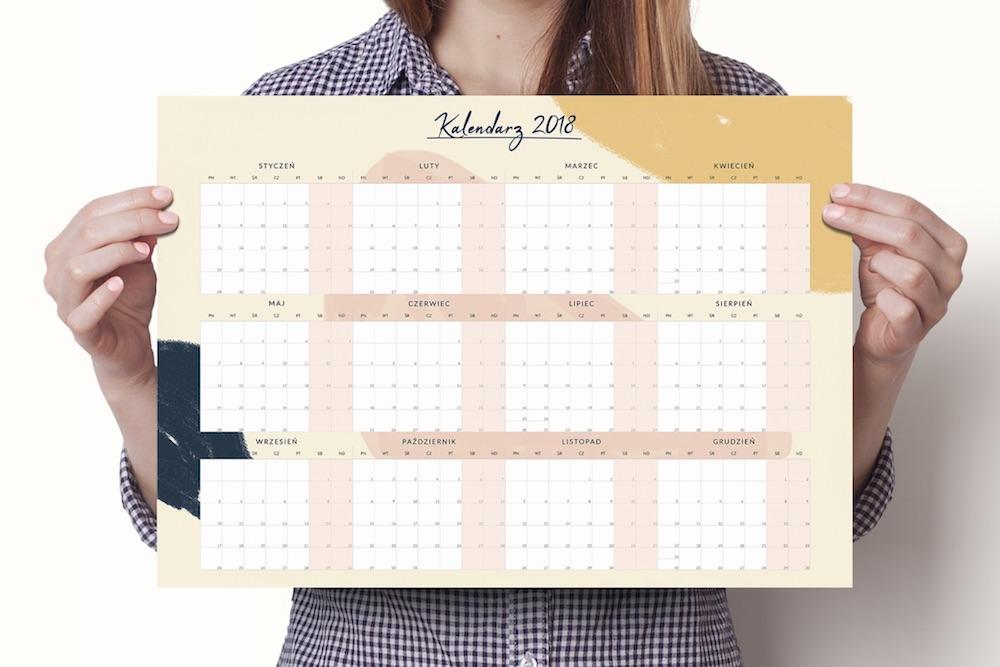 Plane, kalendarz na ścianę 2018