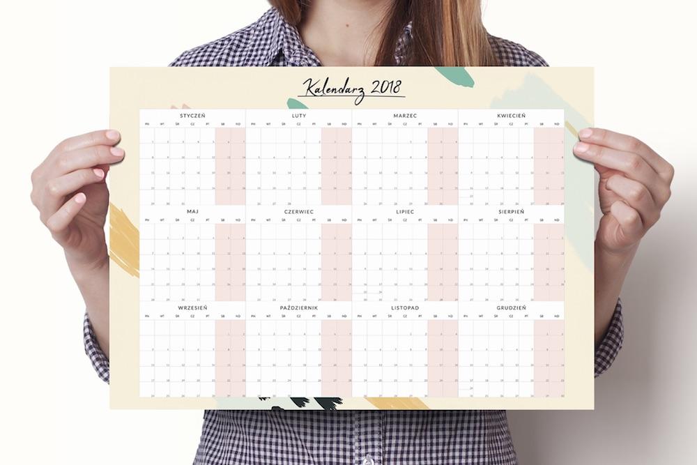 Planer, kalendarz na ścianę 2018