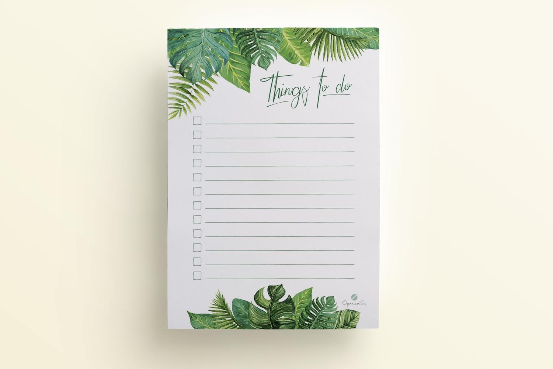 Tropikalna lista zadań to do do druku
