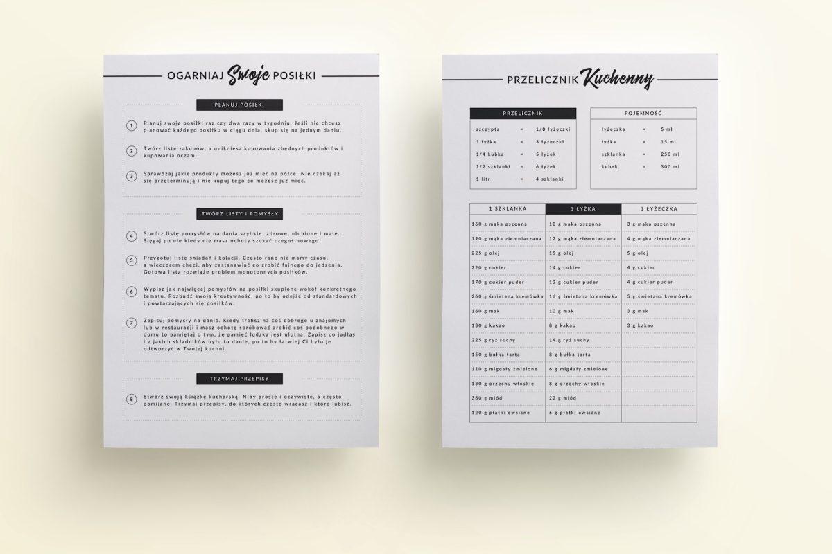 planowanie posiłków i jadłospisów do druku