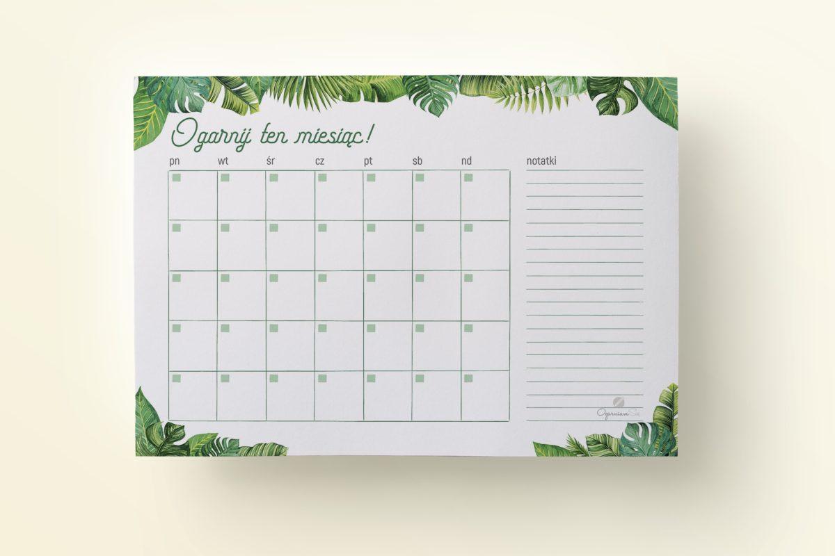 Newsletter Lipiec PL 2 1200x800 - Tropikalny plan miesiąca do druku | Format: A4