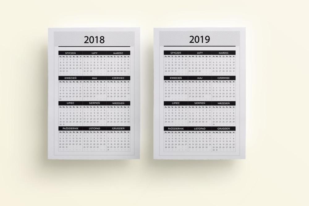Wkłady do organizera 2018 2019 z datami