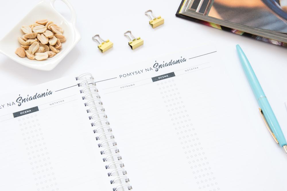 przepiśnik zeszyt na przepisy pomysły śniadania