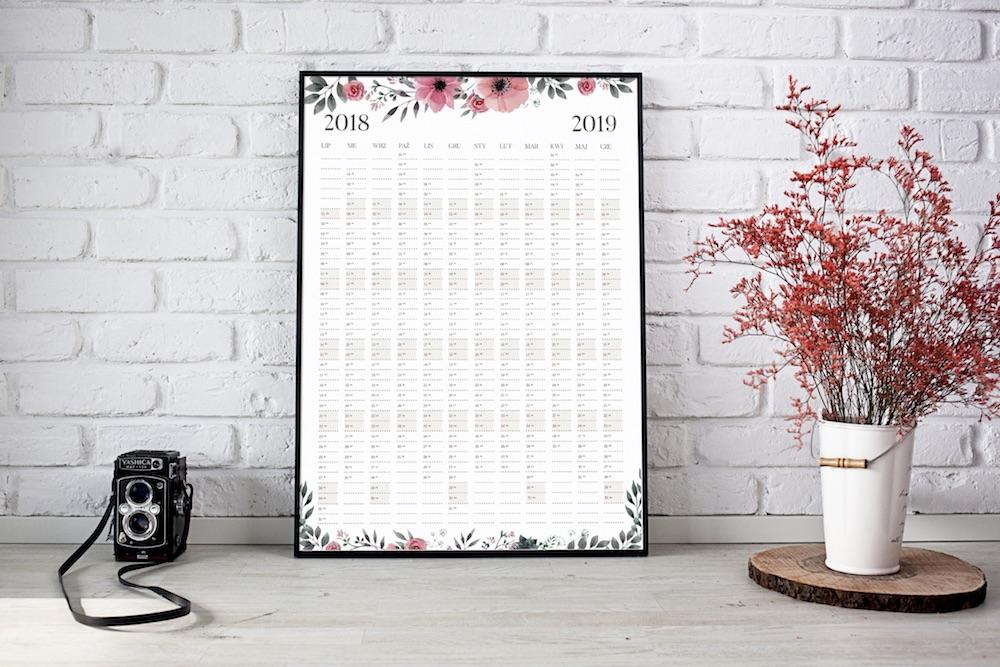 planer kalendarz na ścianę 2018 2019