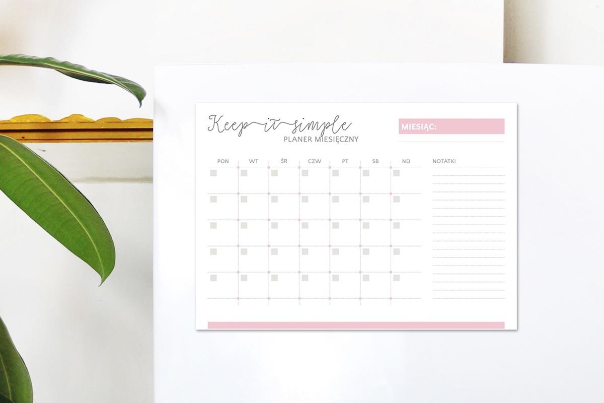 planer miesięczny na lodówkę magnetyczny keep it simple