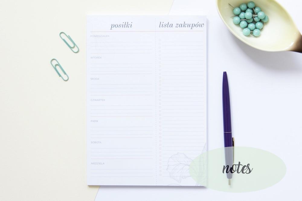 planer posilkow notes 1 - Organizacja kuchni