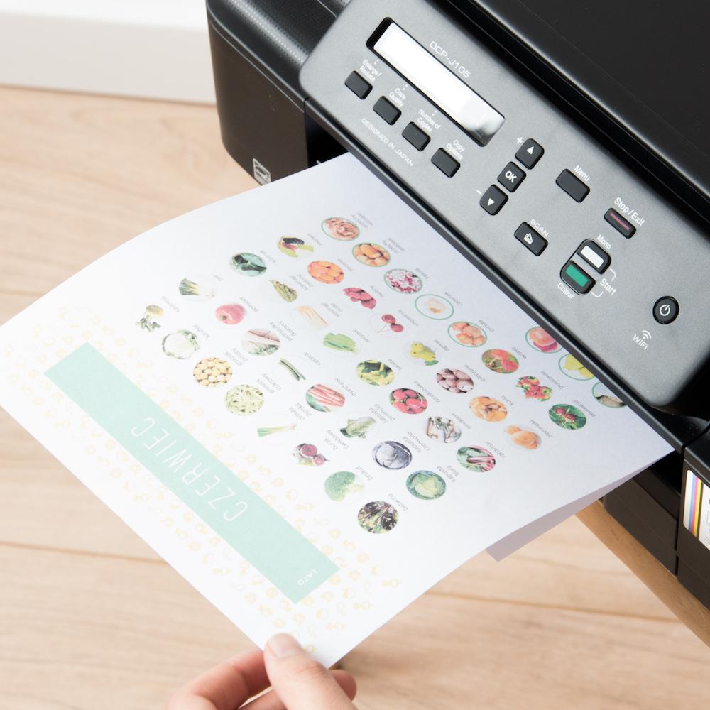 sezonownik drukowany - Organizacja kuchni