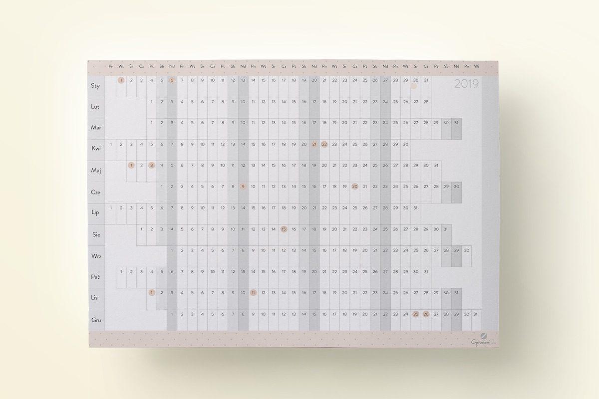 kalendarz 2019 do druku pdf