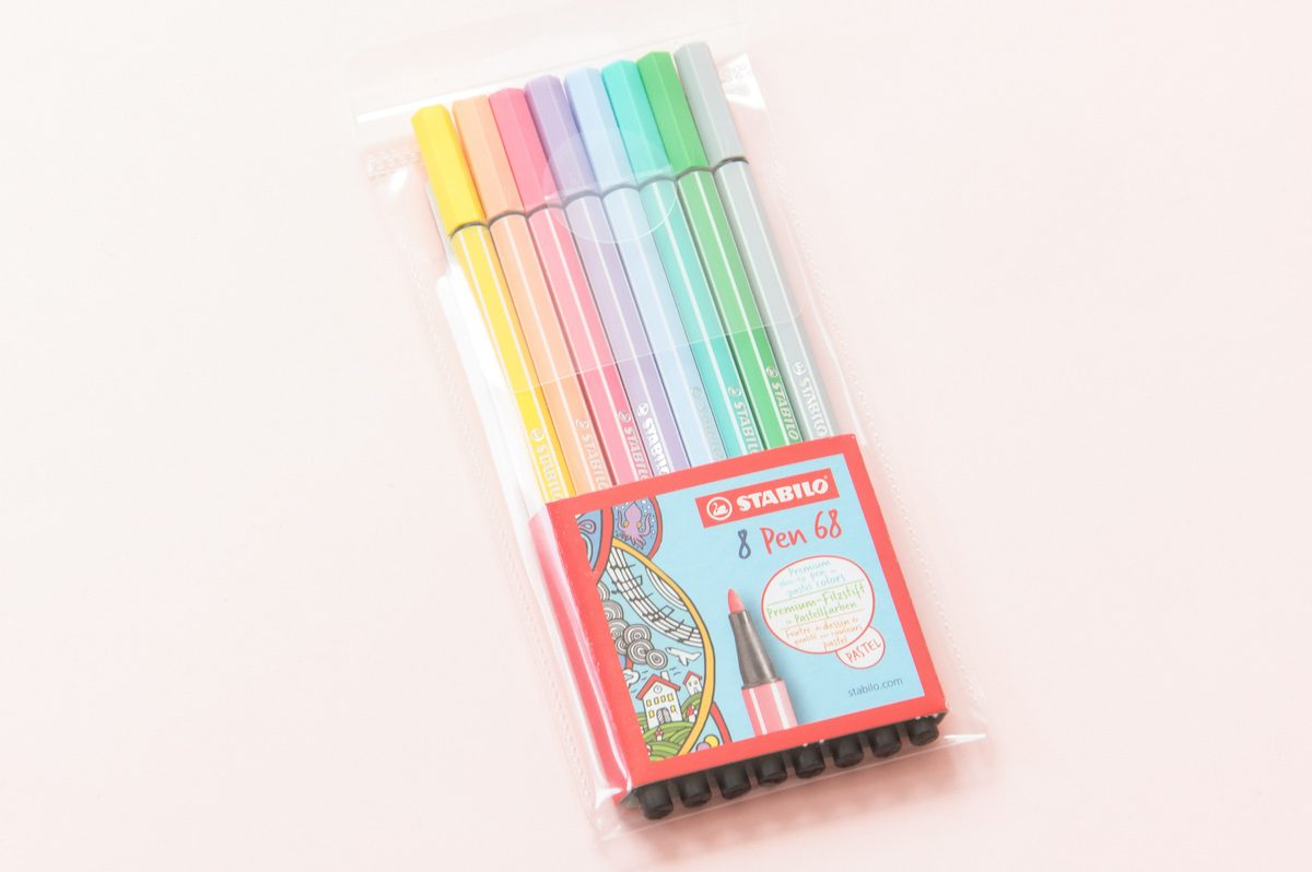 flamastry stabilo pen 68 pastelowe
