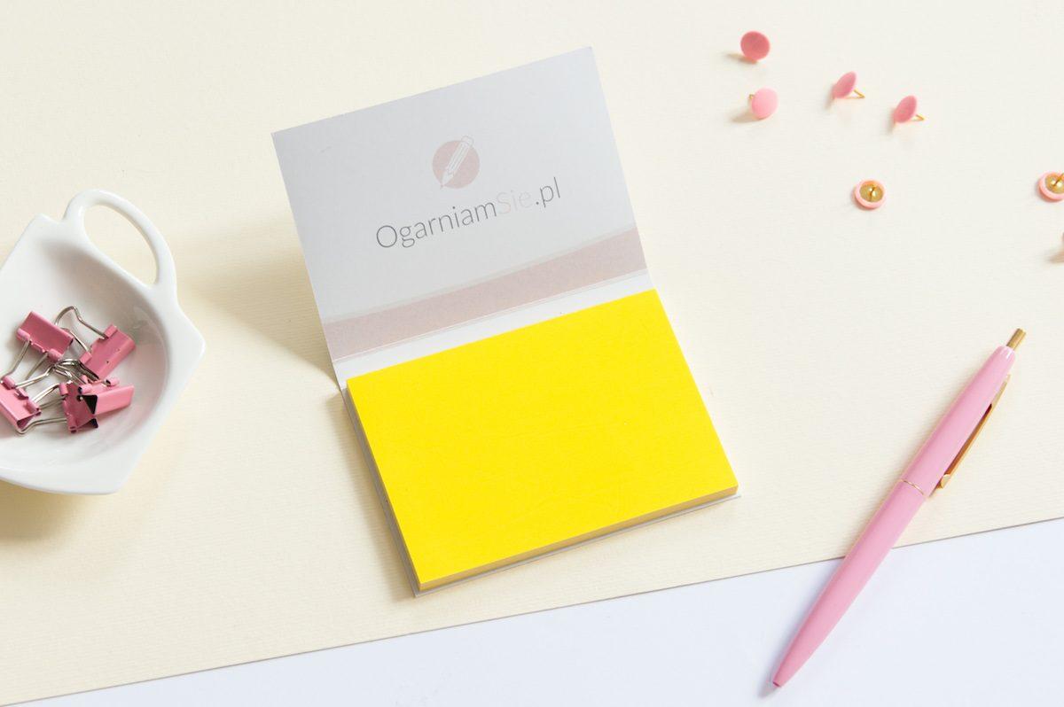 karteczki elektrostatyczne żółte