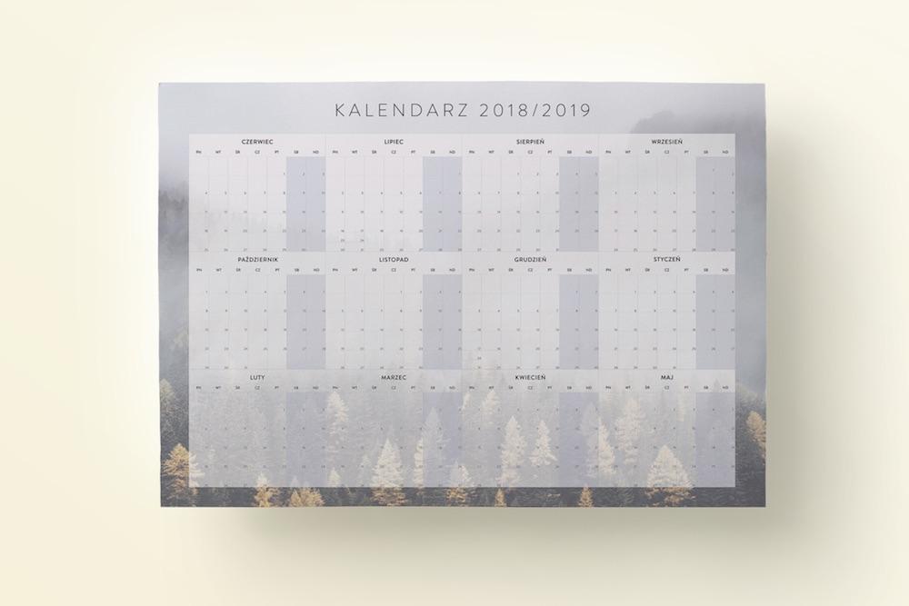 plakat kalendarz 2018/2019