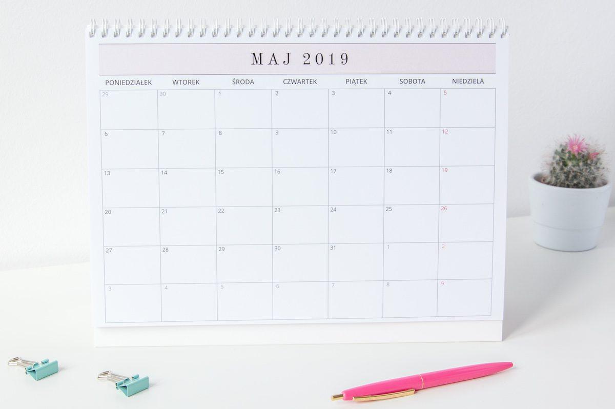 planer kalendarz na biurko 2019