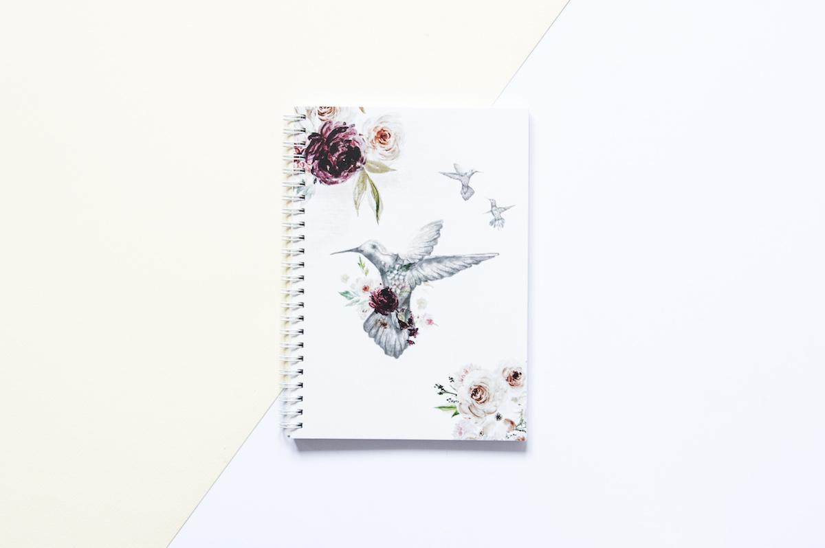 bullet journal zeszyt w kropki roses