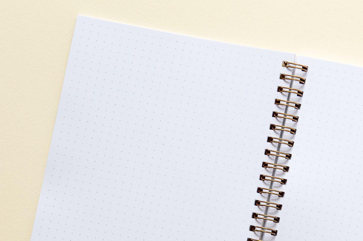 notes z kartkami w kropki