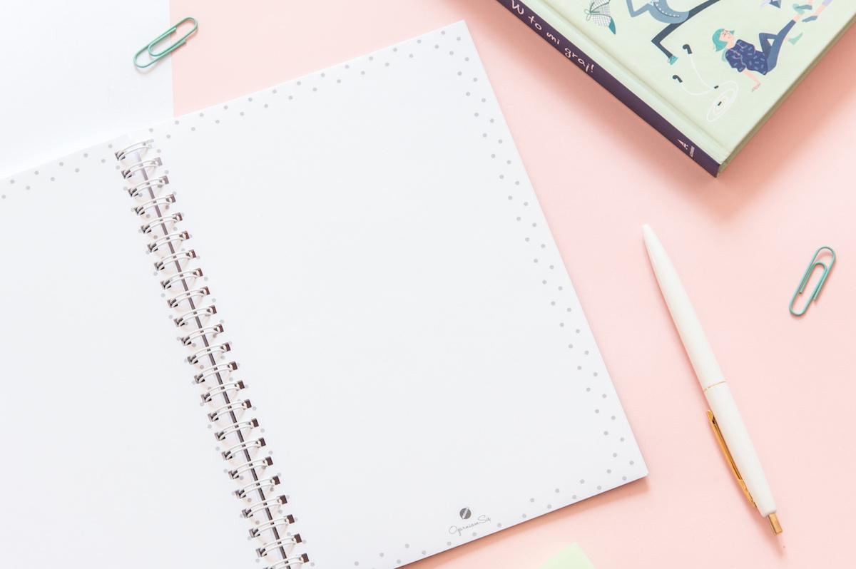 planer książkowy z miejscem na notatki