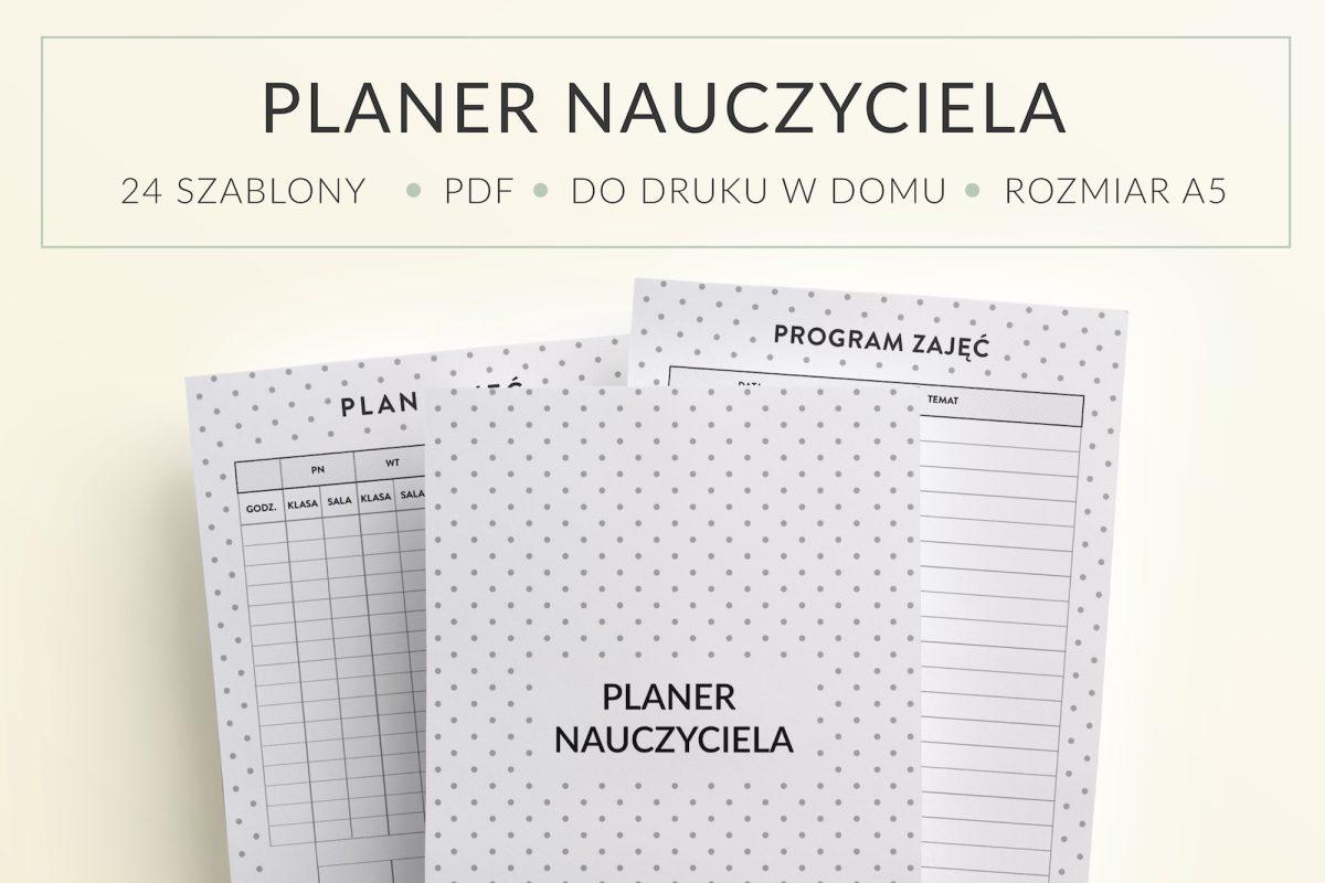 Planer, kalendarz nauczyciela do druku