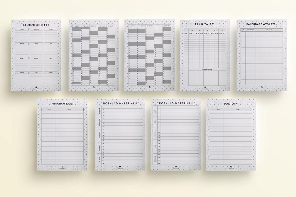 Kalendarz nauczyciela do druku