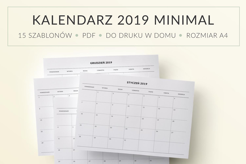 Kalendarz do druku 2019