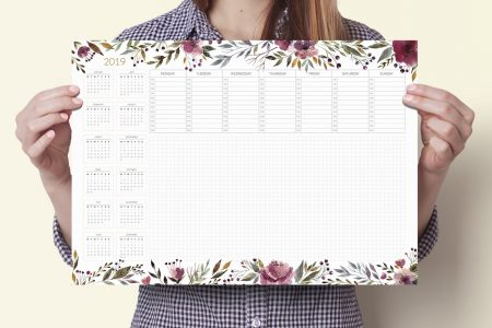 Podkładka na biurko z kalendarzem 2019