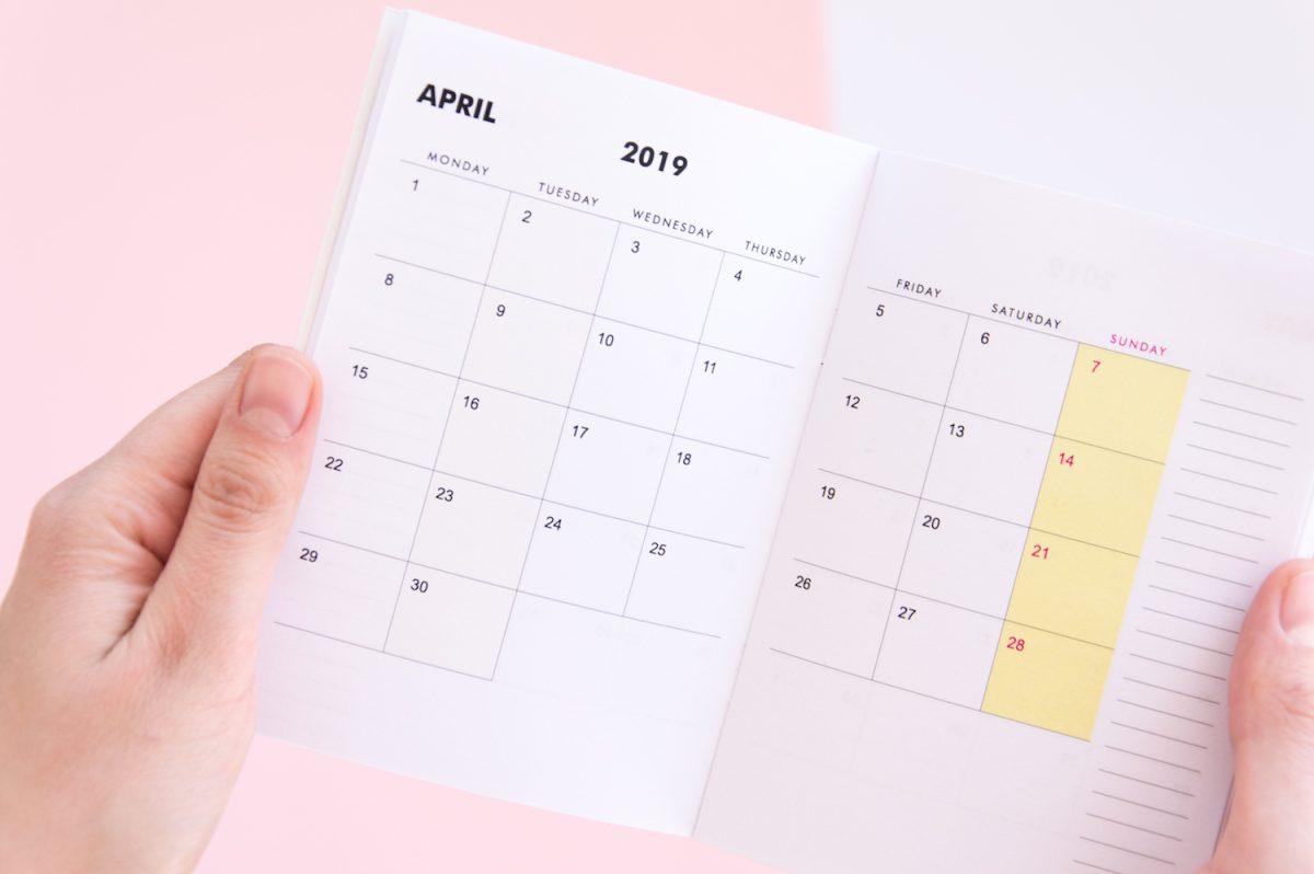kalendrz a6 2019