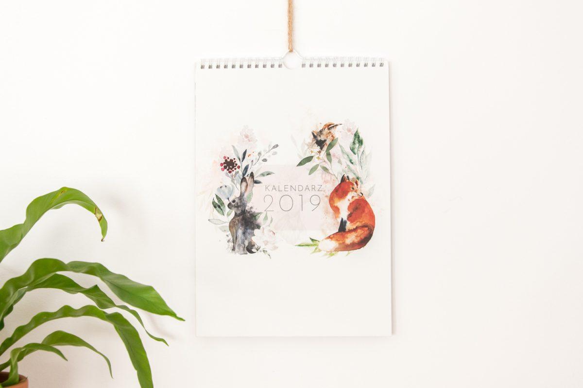 kalendarz rodzinny 2019 ścienny spiralowany okładka
