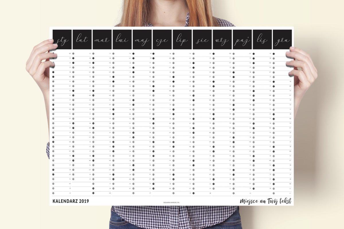 kalendarz personalizowany 2019