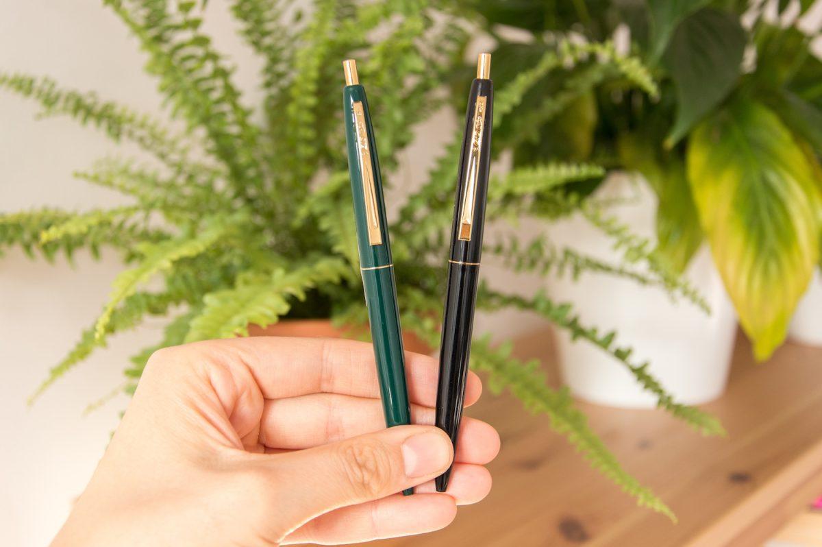 długopis bic czarny ciemno zielony