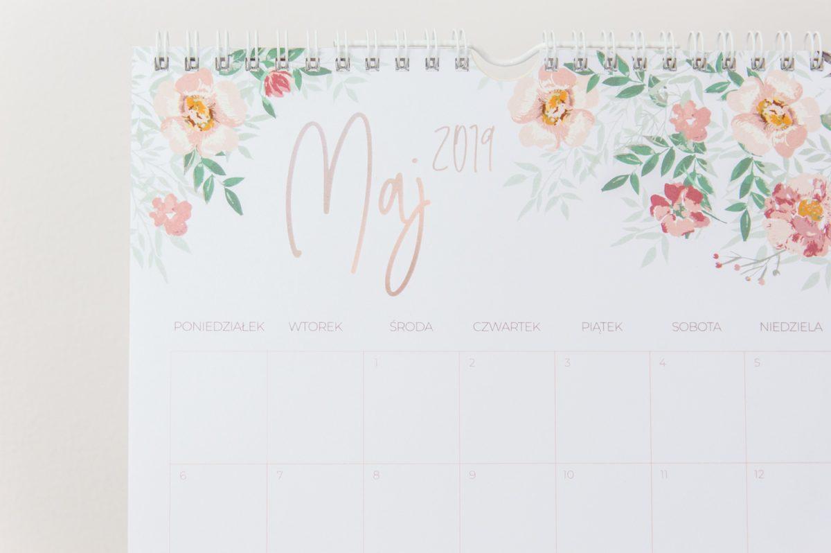 kalendarz ścienny 2019 spiralowany maj