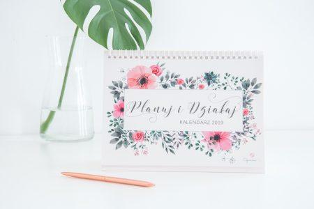 kalendarz na biurko 2019 planuj i działaj