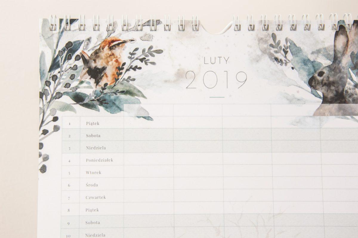 kalendarz rodzinny 2019 luty członkowie rodziny przyblizenie
