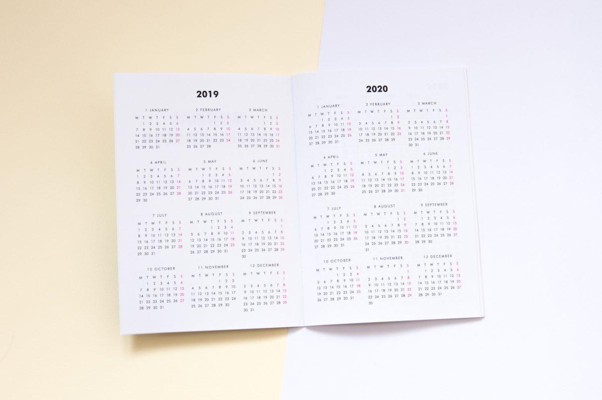 planer miesięczny 2019