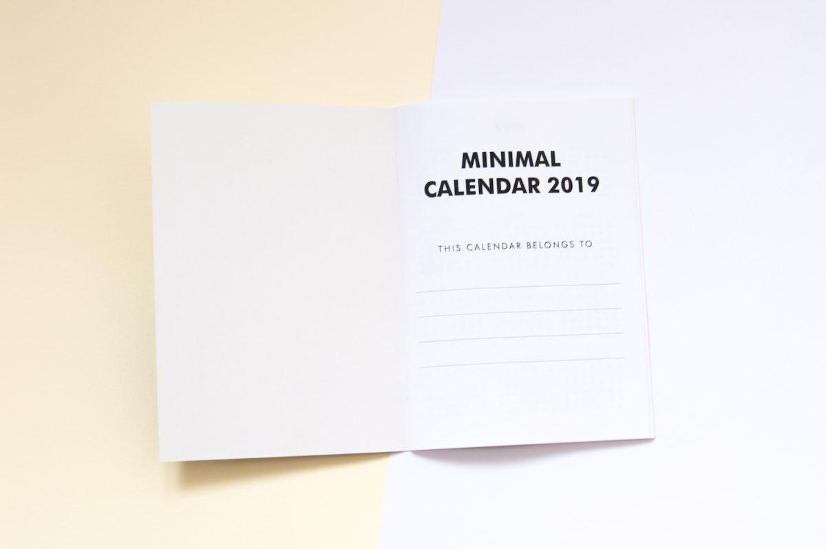 kalendarz 2019 zeszyt